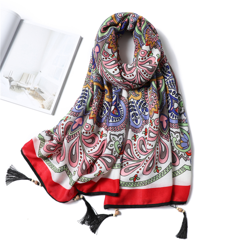 2020 Cotton Scarf For Ladies Spring Winter Warm Scarves Shawls Wraps Foulard Femme Boho Vintage Hijabs Scarfs Pashmina Bandana