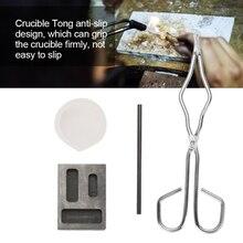 Kit de fundición de sílice para joyería, varilla de grafito, molde de grafito, pinza de crisol de 30g, 4 Uds.