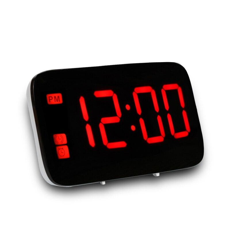 Digital Display Voice Control Snooze Desktop Alarm Clock Makeup Mirror