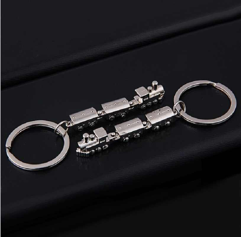 2019 Baru Fashion Mini Kereta Api Model Gantungan Kunci Paduan Logam Gantungan Kunci Kreatif Kunci Mobil Gantungan Tas Pesona untuk Pria dan wanita