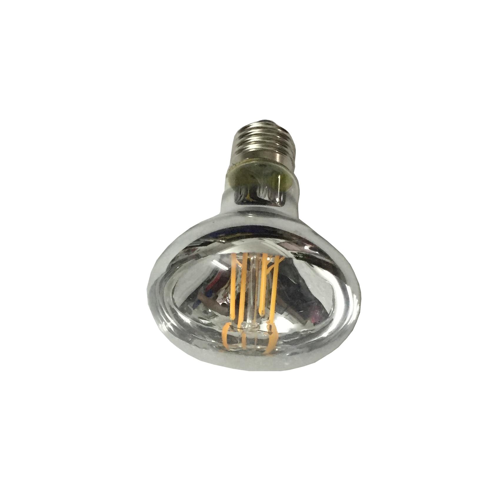 220V 240V Dimmable R80 LED Bulb Flood Light Reflector Bulb 4 Filamennt Real 6W Warm White 2700K 3000K