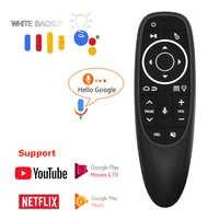Vontar g10 voz controle remoto 2.4g mouse de ar sem fio microfone giroscópio ir aprendizagem para android tv caixa t9 h96 max x96 mini