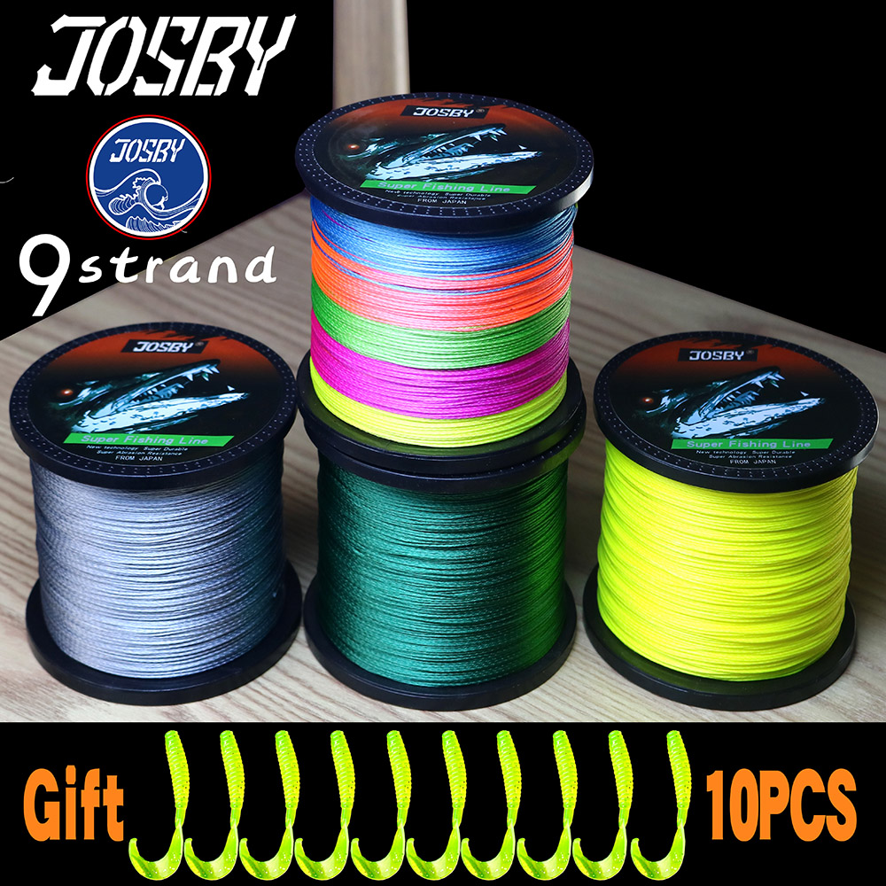 JOSBY NEW Fishing Line Pesca 9 Strand Fly PE Carp Braided Wire Peche Sea Spinning Multifilamento 22~135LB 1000M 500M 300M 100M