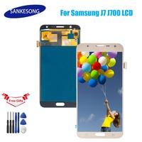Gießen SAMSUNG Galaxy J7 2015 J700 J700F J700M J700H LCD écran taktile numériseur assemblée noir blanc oder Handy-LCDs Handys & Telekommunikation -