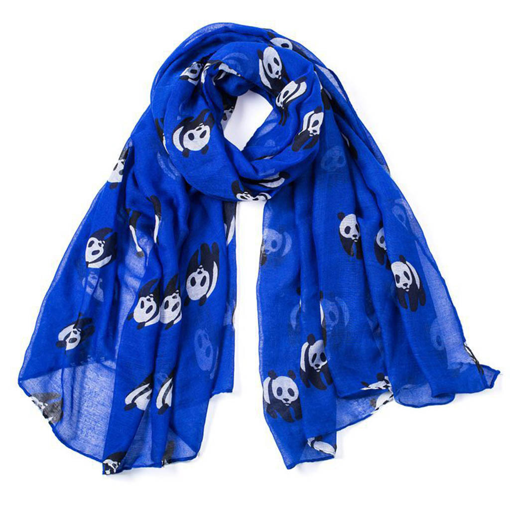 Cute Panda Pattern Adults Winter Warm Scarf Fashion Scarves Shawl Gift