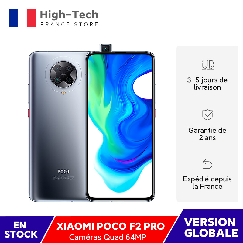 """Global Version Xiaomi POCO F2 Pro 5G Smartphone 6G 128G Snapdragon 865 64MP Quad Cam 6.67"""" Mobile Phones 4700mAh 30W Fast Charge"""