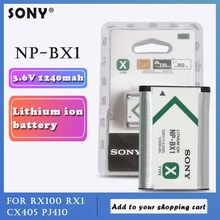 Sony oryginalny 3.6v NP-BX1 NP BX1 NPBX1 1240mah akumulator litowy RX100 M7 M6 M5 M4 M3 x3000r as500 WX350 aparat komórkowy