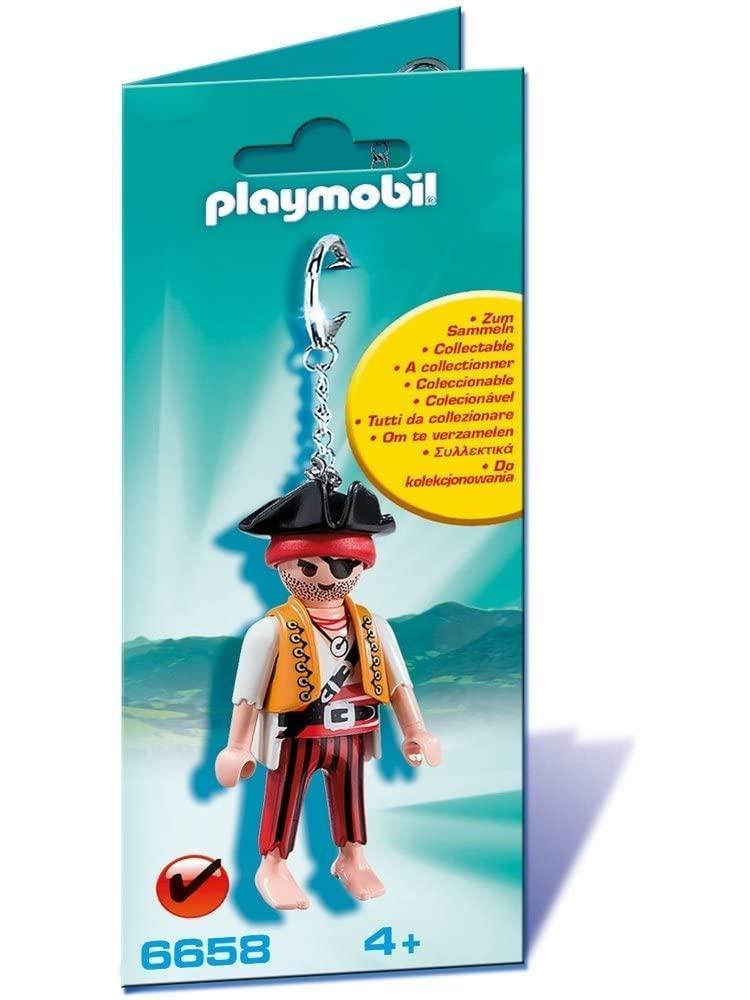 PLAYMOBIL 6658 LLAVERO PIRATA Juguetería Estatua de una pieza de 9 pulgadas, sombrero de paja, piratas, bigotes blancos, busto, figura de acción de 23,5 CM, juguete de modelos coleccionables, caja J430