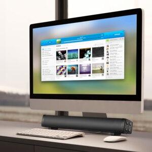 Image 5 - 블루투스 사운드 바, 홈 시어터 서라운드 사운드 용 휴대용 유선 및 무선 미니 사운드 바 스피커