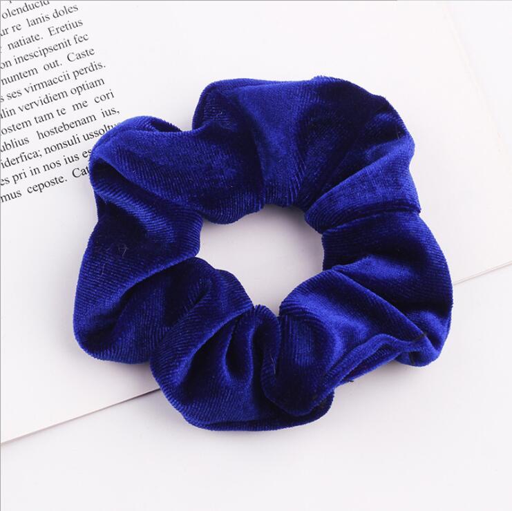 33 цвета, корейские Бархатные резинки для волос, эластичные резинки для волос, одноцветные женские головные уборы для девушек, заколки для волос с конским хвостом, аксессуары для волос - Цвет: Royal Blue