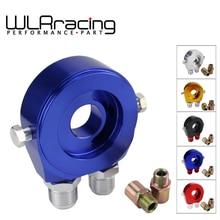 WLR RACING-Универсальный алюминиевый AN10 сэндвич масляный адаптер фильтр охладитель пластина комплект с 3/4-16 UNF, M20 x 1,5 фитинг WLR6721