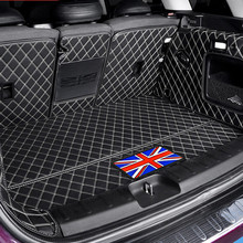 Car Trunk Stowing Tidying styling accessories For BMW MINI Cooper S JCW F54 F55 F56 F60 R60 Car trunk protection mat Leather Pad for lada largus 2012 2018 trunk mat floor rugs non slip polyurethane dirt protection interior trunk car styling