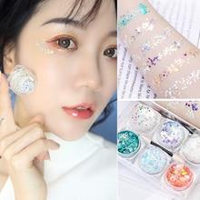 Diamond Glitter Eyeshadow Pallete Shimmer Eye Shadow Pallete Fashion Beauty Eyes Highlight Stage MakeUp Powder недорого