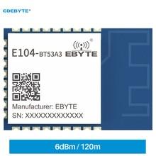 5PCS EFR32BG22 Wireless BT5.2 Blue-tooth Module ISM 2.4GHz CDEBYTE E104-BT53A3 6dBm 120m SMD PCB RF Interface IoT DIY