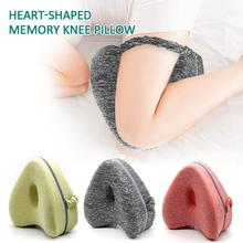 Leg Pillow Heart-shaped Memory Knee With Washable Cover For Relief Back Hips Knees Pain