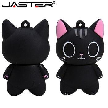 JASTER Usb Pendrive Cartoon Cat  Usb Flash Drive  Et 4GB 8GB 16GB 32GB 64GB 128GB USB 2.0 Pen Drive  Usb Memory Stick U Disk