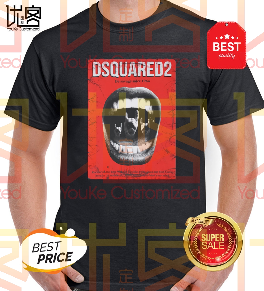 Dsq2 Be Savage T-Shirt Men's Women's Summer 100% Cotton Team Tees Male Newest Top Popular Normal Tee Shirts