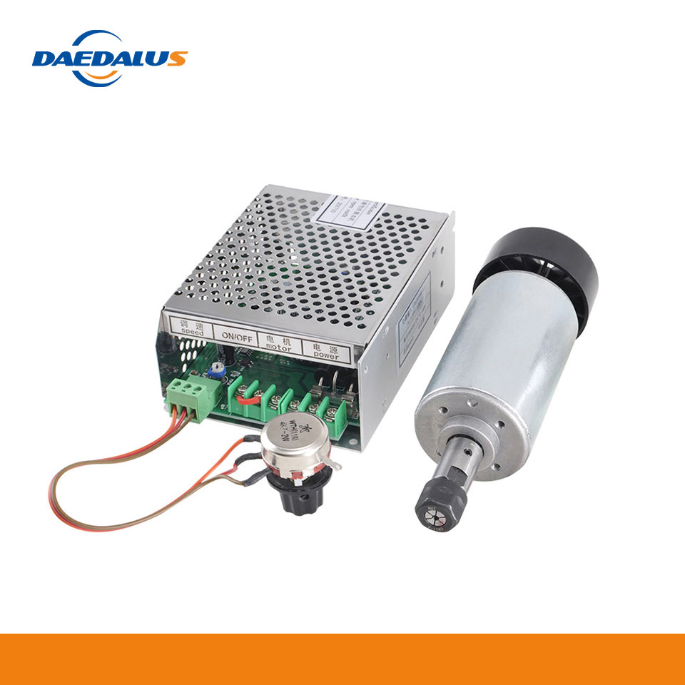 Daedalus Spindle 300W Motor Air Cooling Engraving Spindle Lathe Motor ER11 Collet 110V 220V Power Supply For CNC Wood Router|Machine Tool Spindle| |  - title=