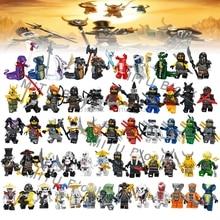 Одиночная ниндзя Кай Джей Коул Зейн Ллойд ня Мини фигурки строительные блоки детские игрушки подарок Legoingly Ninjagoed для детей