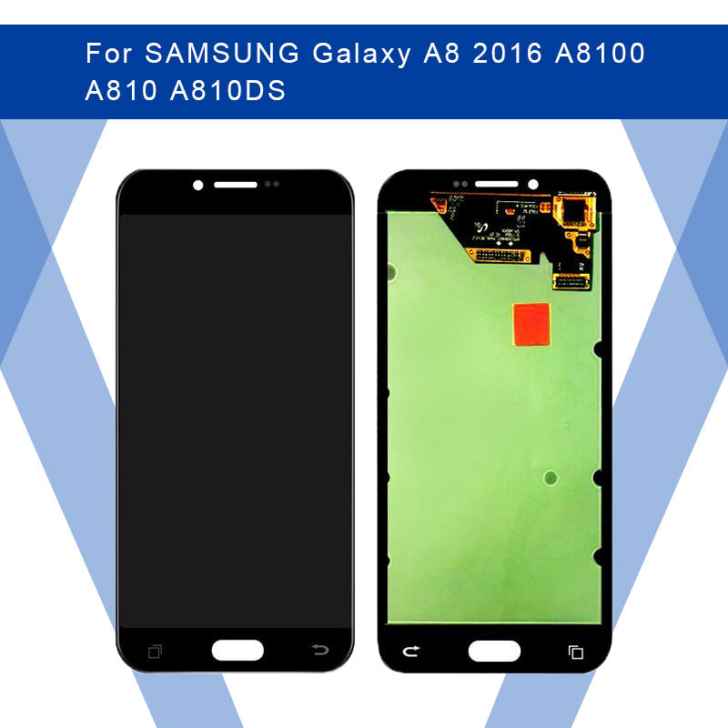 For SAMSUNG Galaxy A8 2016 A8100 A810 LCD AMOLED Display Screen+Touch Panel Digitizer Assembly For SAMSUNG Display Original