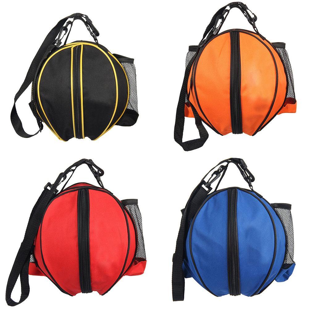 Портативный спортивный мяч, сумка на плечо для баскетбола, футбола, волейбола, сумка для хранения, сумка круглой формы, наплечный ремень, рюк...