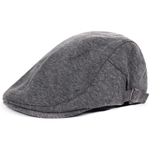 Винтажная хлопковая кепка утконоса среднего возраста, Спортивная Кепка для активного отдыха, регулируемая, для вождения, для солнца, плоская кепка газетчика, унисекс, береты, шляпа, подарок - Цвет: Dark Gray