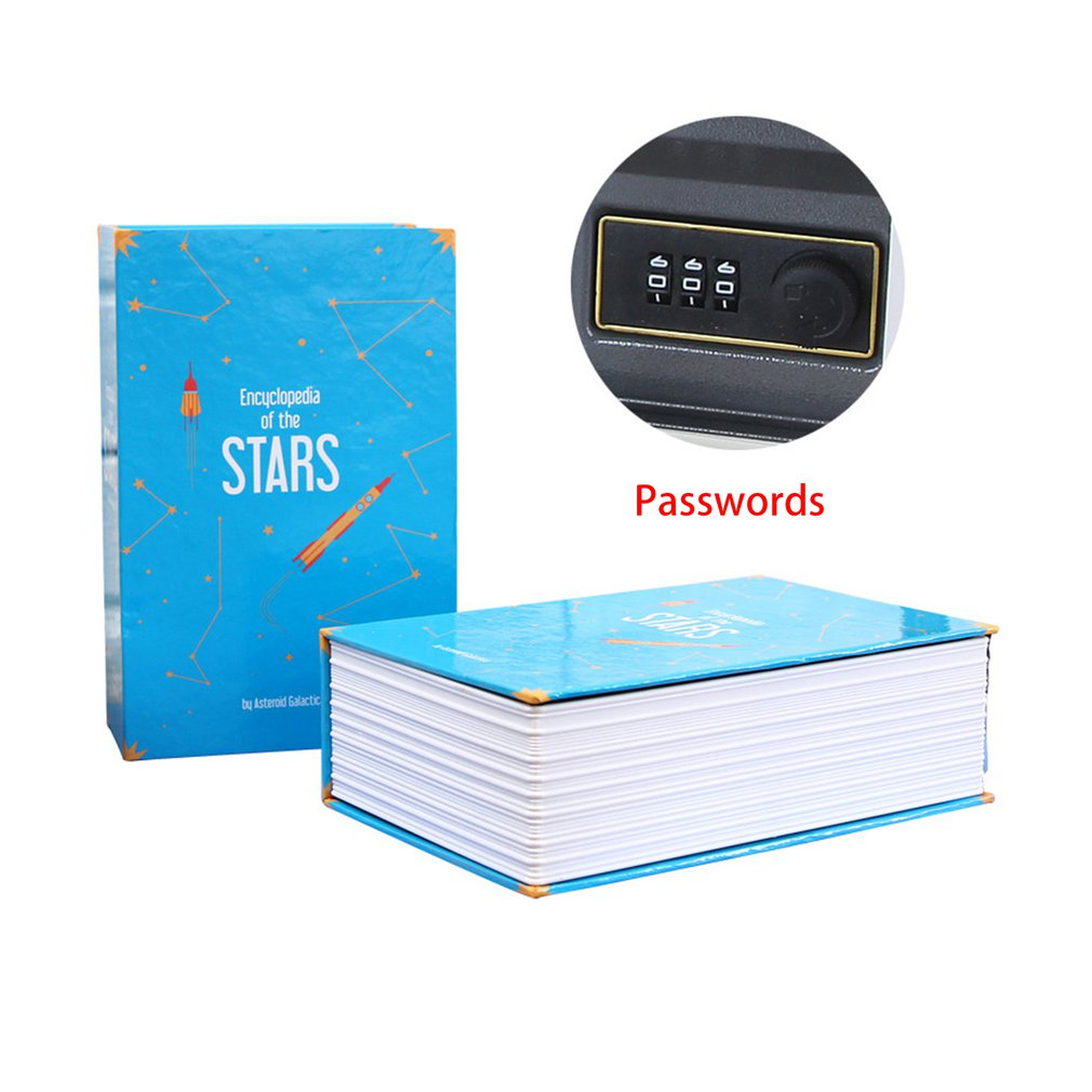 Creative Safe Deposit Box Mini Home Storage Box Safe Cabinet Craft Book Password Key Box Insurance Box LESHP