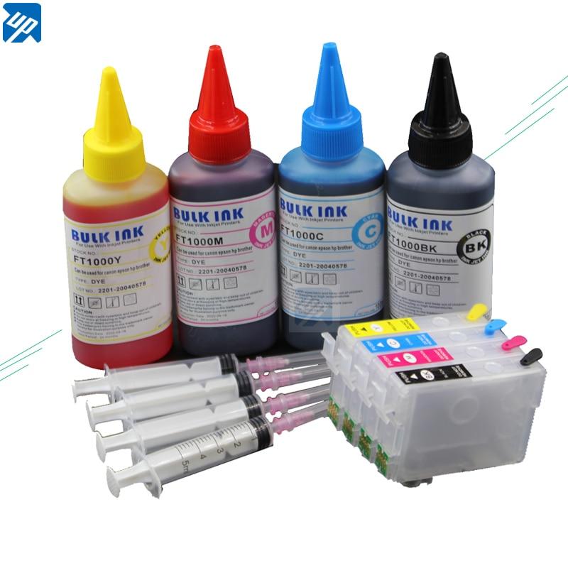 Наборы чернил для заправки 502XL 502, многоразовый картридж с дуговым чипом для Epson XP-5100 XP-5105 WF-2865, принтер