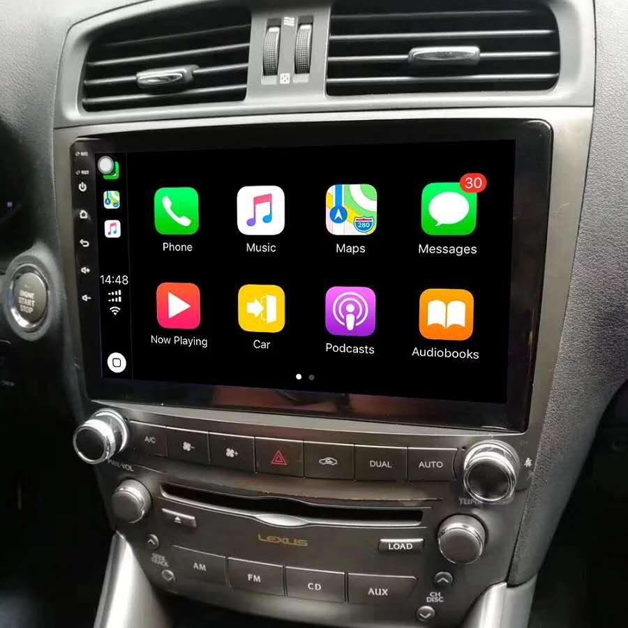 Máy Nghe Nhạc Đa Phương Tiện Quad Core Android 8.0 Radio Đồng Hồ Định Vị GPS Thấp Mẫu Dành Cho Xe Lexus IS250 IS200 IS220 IS300 2006-2012