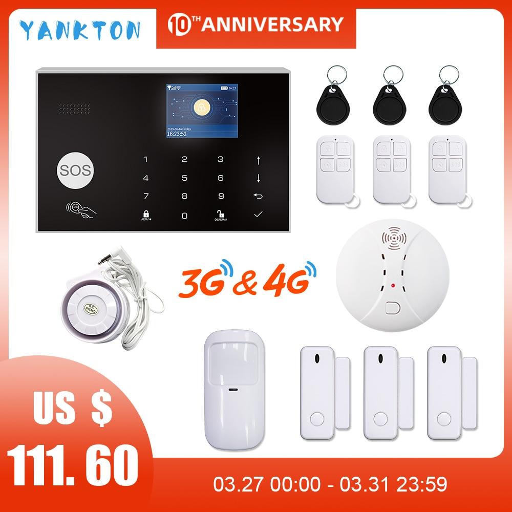 Wireless Full Touch GSM WiFi Smart Home Burglar Security Alarm System Tuya APP