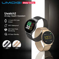 UMIDIGI Uwatch2 Smart Watch For Andriod,IOS 1.33' Full Touch Screen IP67 25 days Standby 7 Sport Modes Full Metal Unibody reloj