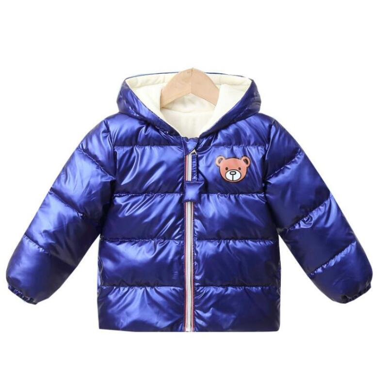 New Boys Girls Clothes Kids Casual Hooded Down Coats Autumn Winter Warm Fashion Outwear Children Solid Jacket For 2-6 Years 2
