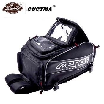 Cucyma motocicletas sacos à prova dwaterproof água da motocicleta mochila capacete sacos de moto motocross viagem bagagem com ímã menat