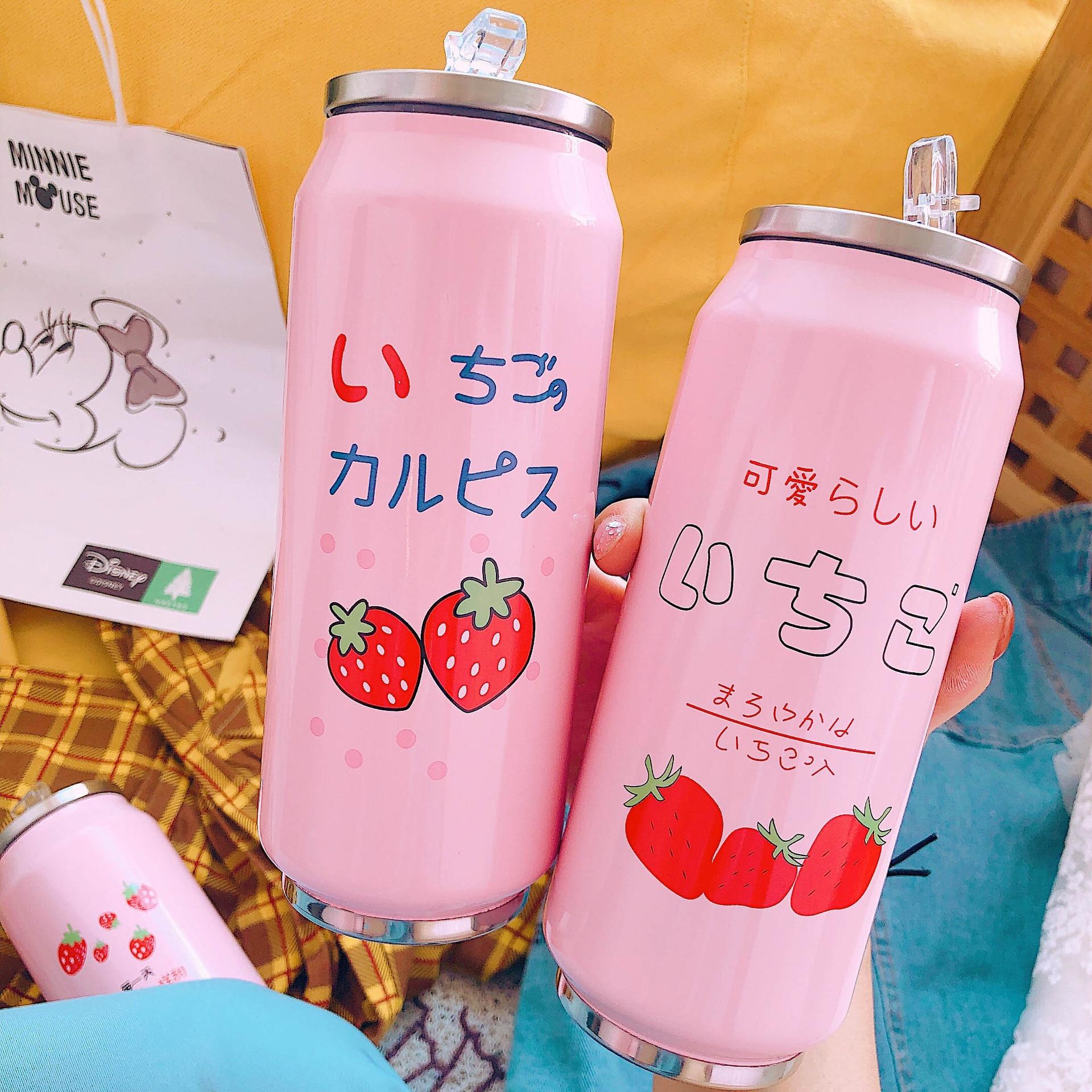 Kawaii Strawberry Vacuum Cup 1