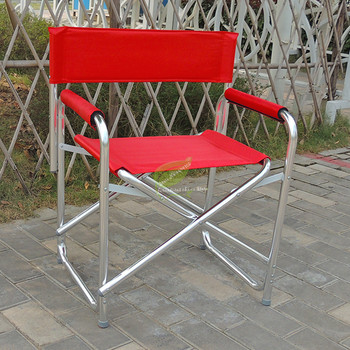 Outdoor Folding Fishing Chair Aluminum Director Chair Computer Stool Portable Beach Leisure Chair