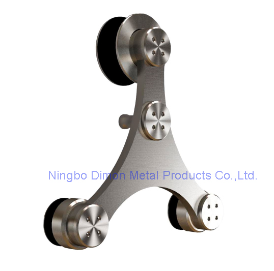 Dimon Stainless Steel Door Hardware Glass Sliding Door Hardware Hanging Wheel America Style Sliding Door Hardware DM-SDG 7006