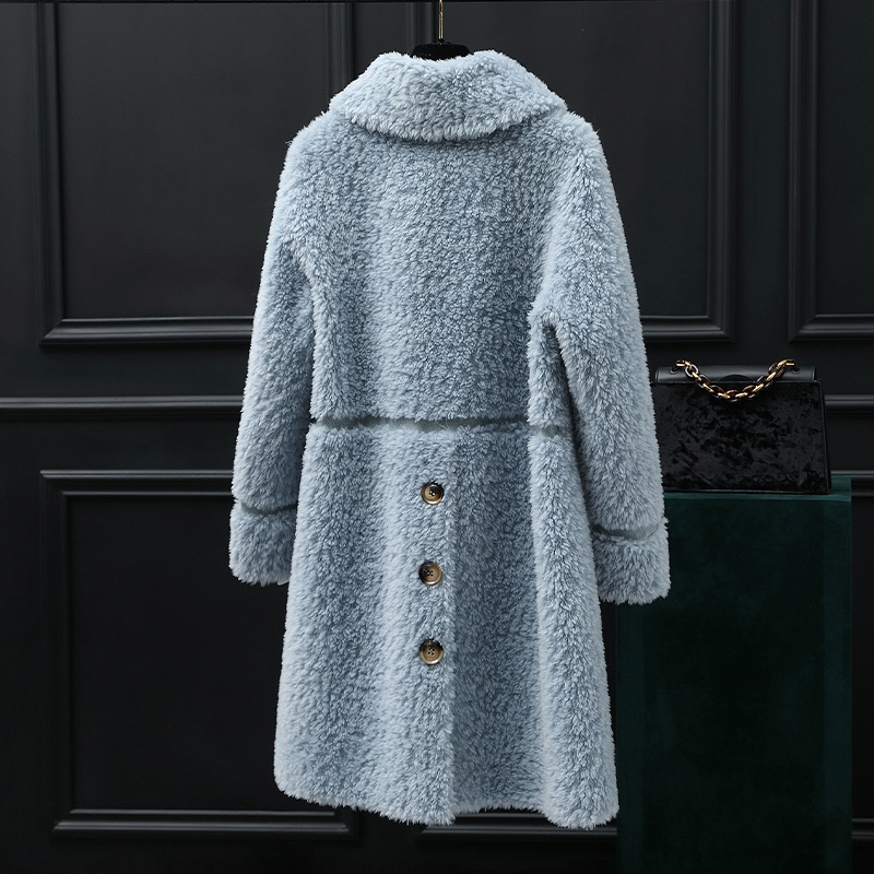 Real Fur Sheep Shearing Winter Coat Korean 100% Wool Jacket Women Clothes 2020 Manteau Femme 2893 YY1165