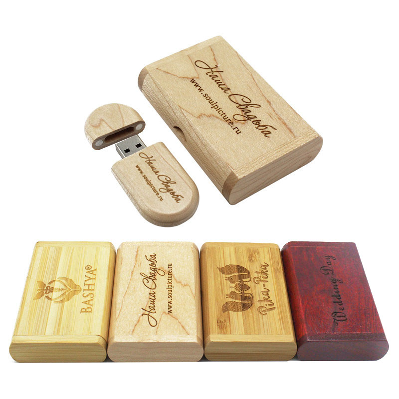 TEXT ME 1 pcs free 64GB Customize LOGO USB flash drive 4gb 8gb 16gb 32gb pen drives Maple wood usb stick(China)