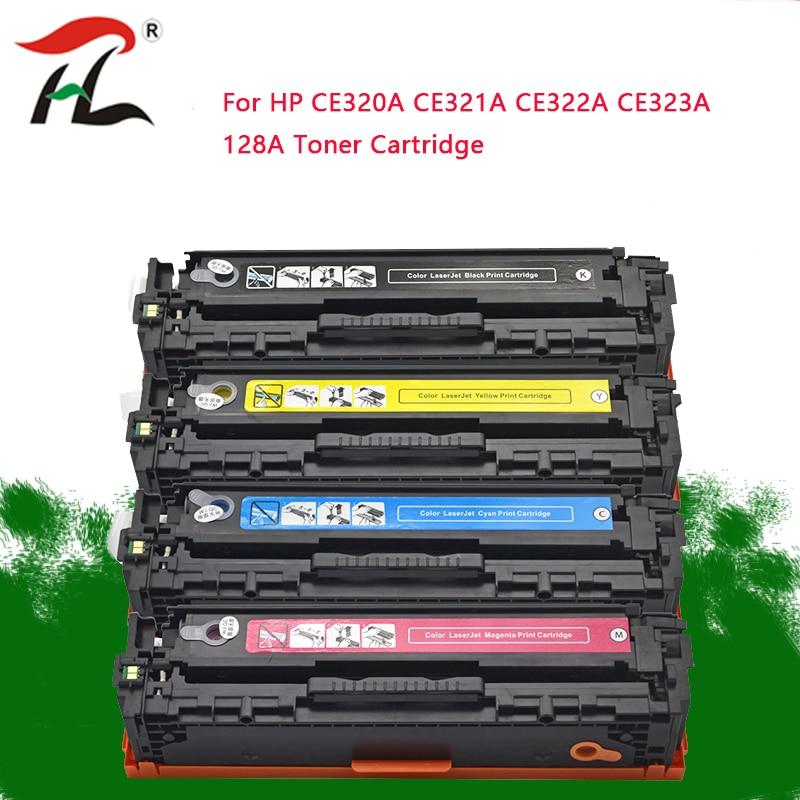 Compatible For HP CE320A CE321A CE322A CE323A 128A 320 321 322 323 Toner Cartridge  For HP Laserjet CM1415 CM1415fn 1415 CP1525