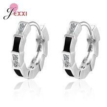 Серьги кольца из настоящего серебра 925 пробы для женщин сережки