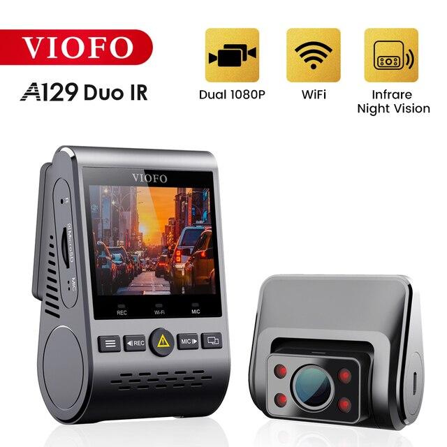 VIOFO A129 Duo IR передний и внутренний двойной видеорегистратор 5 ГГц Wi Fi Full HD 1080P буферный режим парковки для супер такси