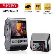 VIOFO Cámara de salpicadero Dual A129 Duo IR, frontal e Interior, 5GHz, Wi Fi, Full HD, 1080P, modo de estacionamiento amortiguado para Uber Taxi