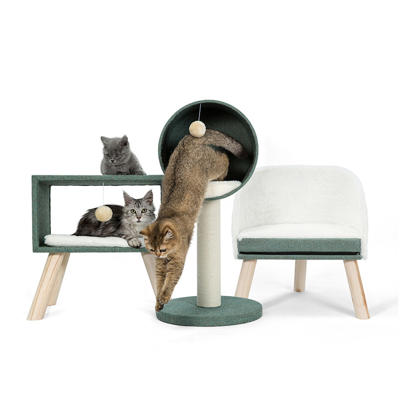 Tower Cat Condo Sisal Scratching Posts