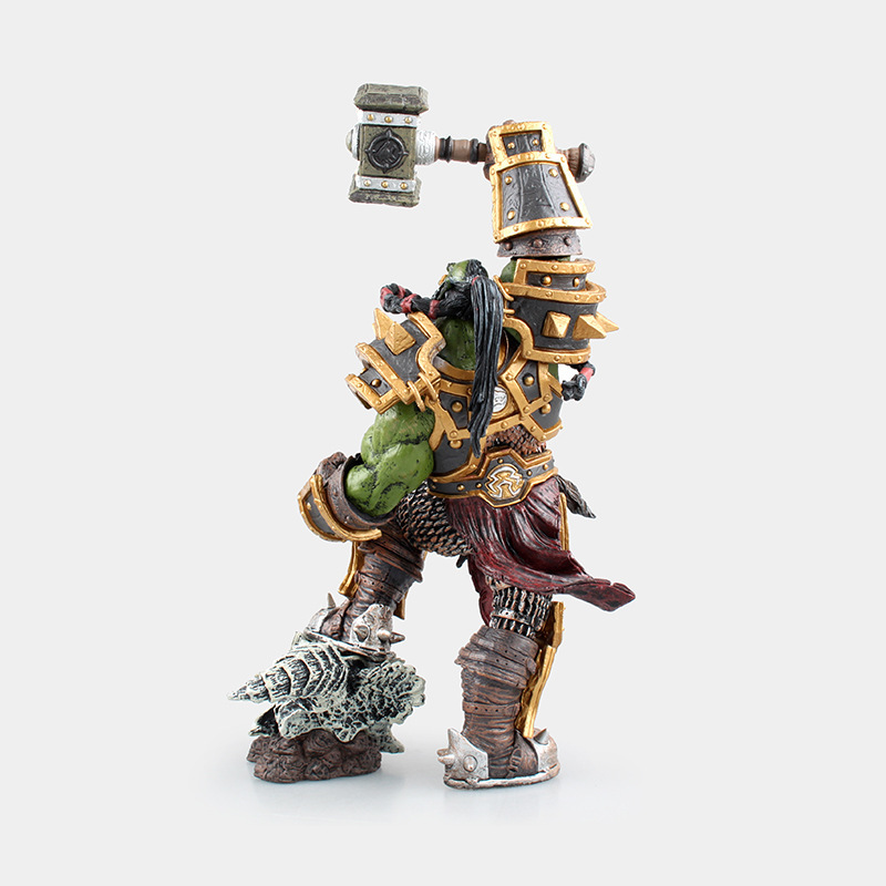 DC World of Warcraft WOW Tribe Frostwolf Chief Leader Thrall Orc Shaman Boxed Garage Kit|Educational Equipment| |  -