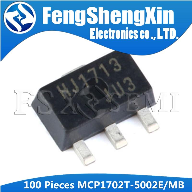 100pcs/lot  MCP1702T-5002E/MB SOT-89 MCP1702T-5002E SOT MCP1702T-5002 SMD MCP1702T MCP1702 SMD  LDO Regulator IC