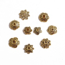 Beads-Caps Spacer-Beads Charms Necklace Flower Torus-Shape Golden Bracelets Jewelry-Findings