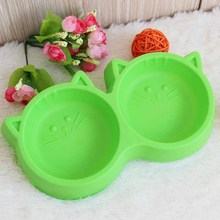 New Dog Bowl Pet Feeding Dish Water Cat Plastic Face Environmental Protection Portable Travel