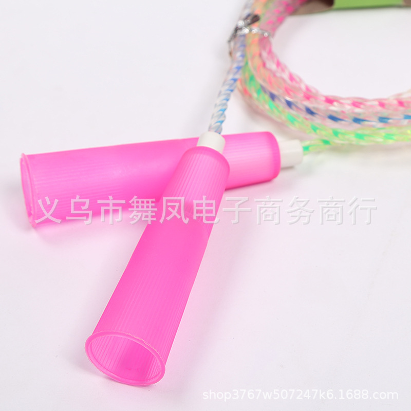 2019 New Style Colorful Transparent Jump Rope School Physical Education Jian Shen Sheng Outdoor Sports Game Jump Rope