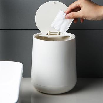 Kosz na śmieci biurkowy może kreatywny mały pulpit miniaturowy kosz na śmieci narzędzia do czyszczenia do domu sypialnia salon środki czystości w Kosze na śmieci od Dom i ogród na