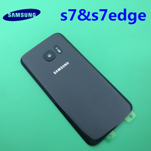 Image 3 - Samsung Galaxy S7 edge Original Back Battery Cover G930 G930F Case G935 G935F Rear Door Housing Glass Panel Replacement Part